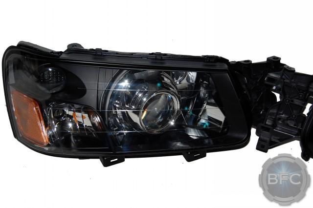2004 Subaru Forester Black Chrome Hid Projector Headlights