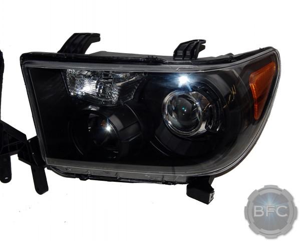 2012 Toyota Tundra Black & Chrome HID Projector Headlights
