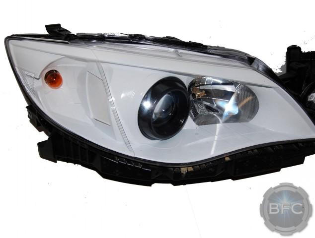 2012 F250 Headlights >> 2012 Subaru WRX White & Black Custom Painted HID Headlights | BlackFlameCustoms.com