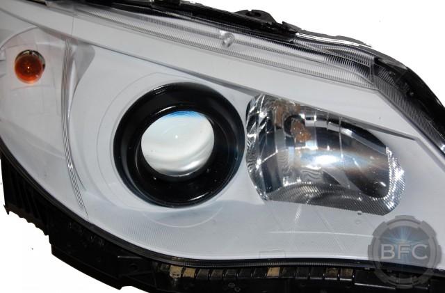 2012 Subaru WRX HID White Black Headlights