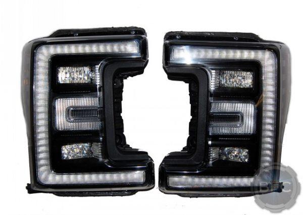 2017 Ford Superduty F250 F350 LED Black Paint Headlights