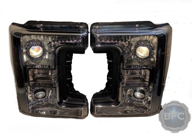2017 Ford Superduty F250 F350 Quad Chrome HID Projector Retrofit Headlights