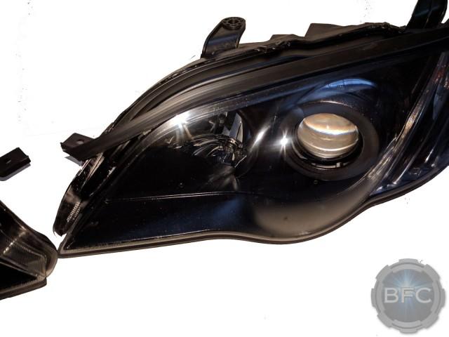 2008 Subaru Legacy GT Black & Clear Custom Painted Headlights