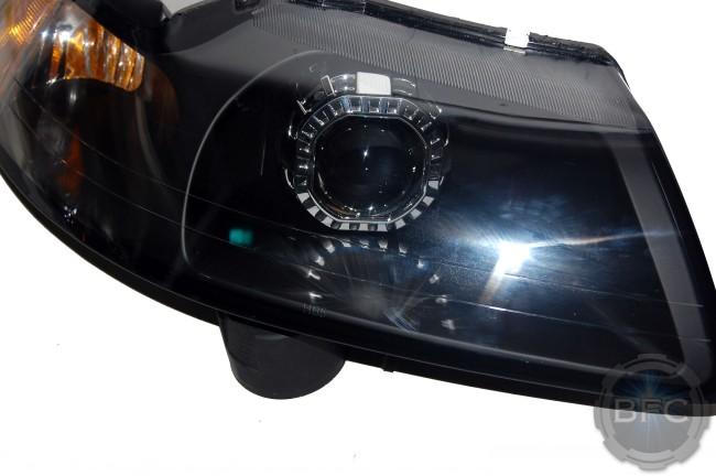 2003 Ford Mustang Cobra Custom HID Projector Headlights Black Chrome