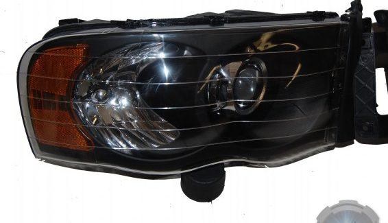 2005 Dodge Ram Black & Chrome HID Projector Retrofit Custom Headlights