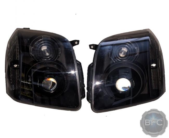 2014 GMC Yukon Denali All Black HID Projector Headlights