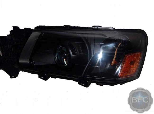 2005 Subaru Forester All Black HID D2S Projector Retrofit Custom Headlights