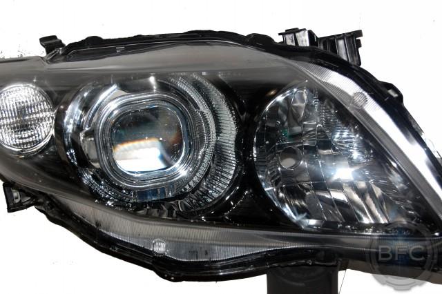 2010 Toyota Corolla D2S HID Projector Custom Headlights
