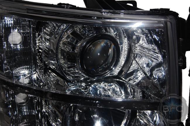 2008 Chevy Silverado All Chrome HID Projector Retrofit Headlights