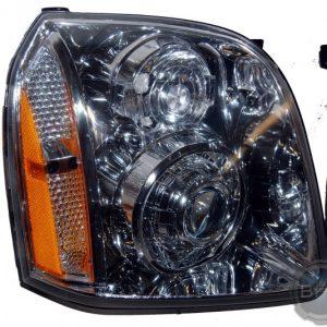 2014 GMC Yukon Denali Smooth Chrome HID Projector Headlights