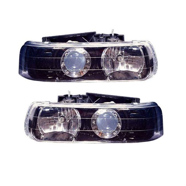 1999 2006 Chevy Tahoe Suburban Silverado Complete Hid Projector Headlight Retrofit Package Blackflamecustoms Com
