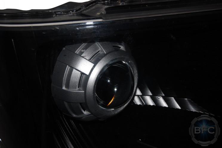 2012 Ford F150 Custom Black & Silver HID Projector Headlights