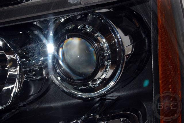 2014 Chevy Tahoe Suburban Avalanche HID LED Projector Headlight Retrofits Smoked