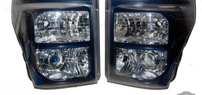 2015 Ford F250 Super Duty N1 Blue Jeans Metallic Custom HID Projector Headlights