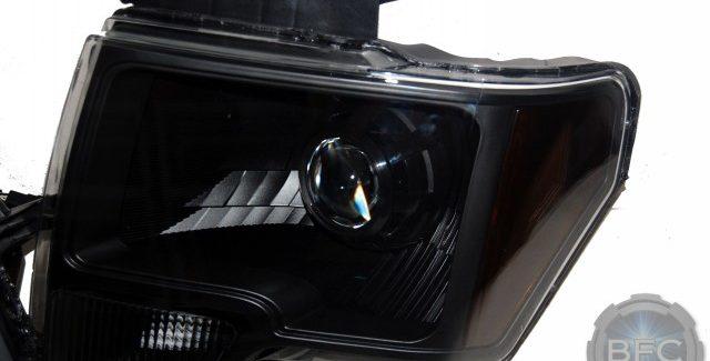 09-14 Ford F150 All Black Custom HID Projector Retrofit Headlights