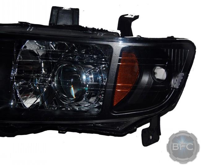 2012 Honda Ridgeline Black & Chrome D2S HID Projector Headlights