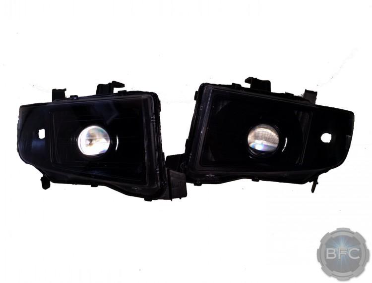 2010 Honda Ridgeline All Black Everything Custom HID Projector Headlights