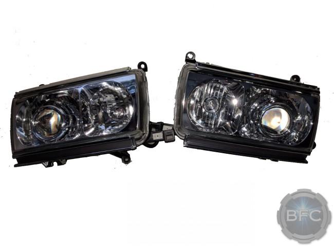 2007 Lexus GX470 Chrome HID Projector Retrofit Headlights