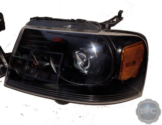 2004-2008 Ford F150 All Black Projector HID Custom Headlights