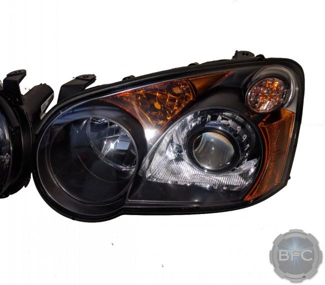2004 Subaru WRX Stock Amber Chrome HID Projector Retrofit Custom Headlights