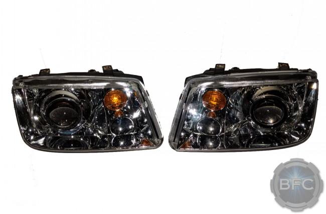 2003 VW Jetta Chrome D2S HID Projector Retrofit Custom Headlights