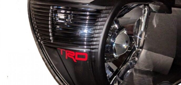 2011 Toyota Tacoma TRD Black & Chrome HID Projector Headlights