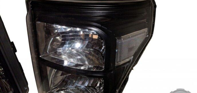 2015 F250 Black & Chrome Headlights