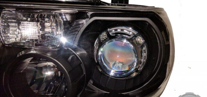 2008 Toyota Tundra Black & Chrome HID LED Projector Headlights
