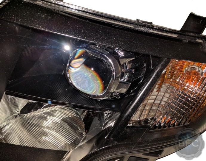 2009 Ford Edge Limited Custom Black & Chrome HID Projector Retrofit Headlights Black Flame Customs