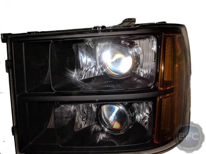 2013 GMC Sierra 1500 Black & Chrome Projector Quad Headlights Kit