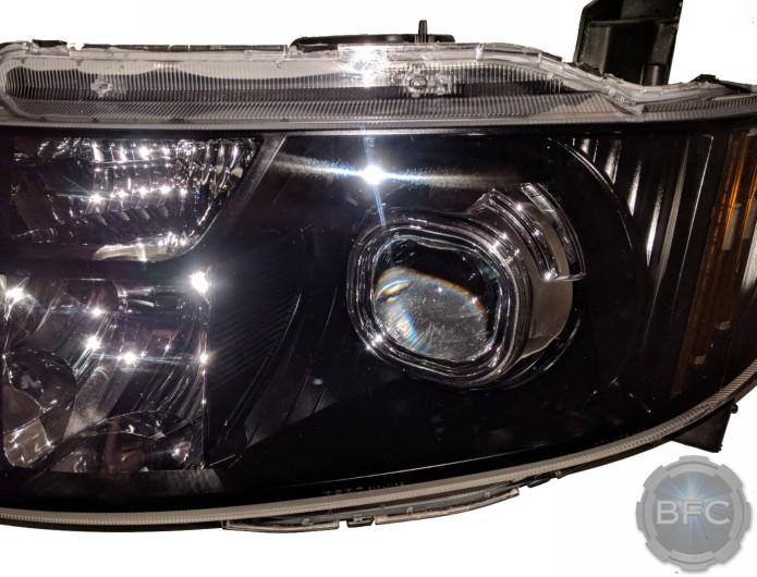 2010 Honda Element Black & Chrome HID Projector Headlights