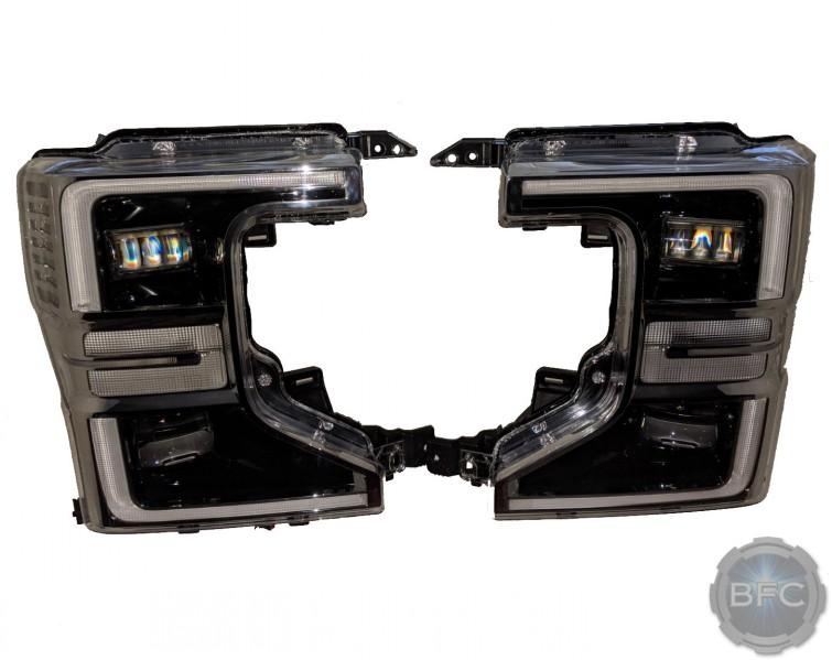 2020 Ford Super Duty F450 Clear Reflector OEM LED Quad Headlights Conversion Klearz