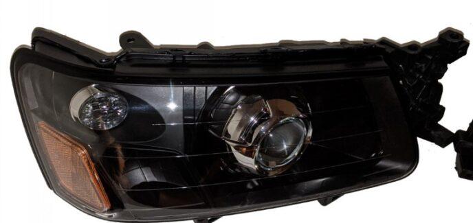2004 Subaru Forester Black & Chrome Projector Retrofitted Headlights Kit