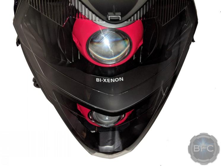 Honda Silver Wing 600 Black Red Custom Projector Headlights