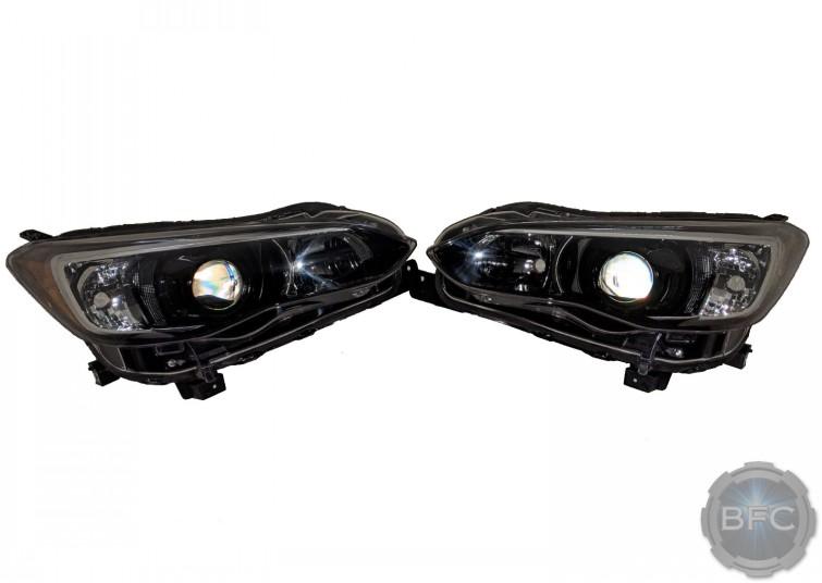 2017-2020 Subaru Crosstrek Custom Black & Chrome LED Projector Headlights