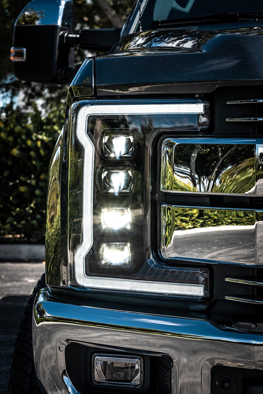 2017-2019 Ford F250 F350 F450 Super Duty Black Recon LED Headlights