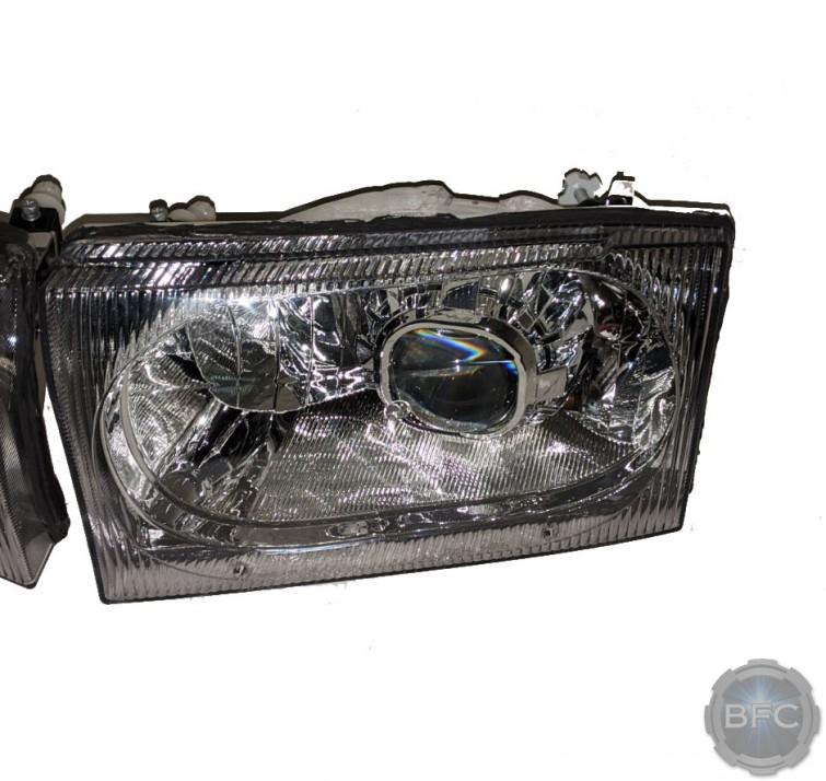 99-04 Ford Super Duty Chrome D2S Q5X Projector Headlights