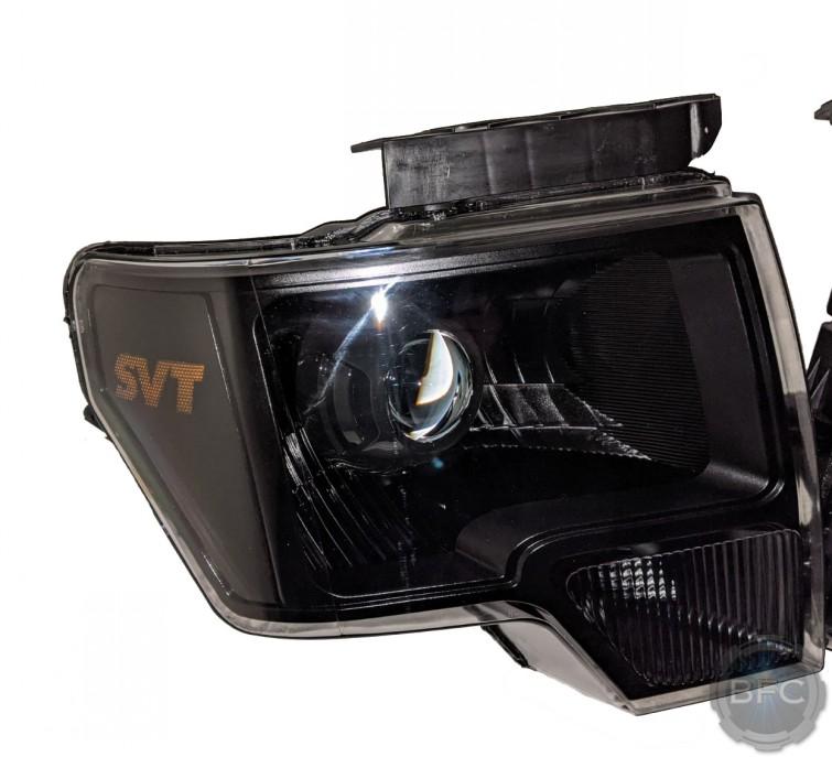 2012 Ford F150 Raptor Black Projector SVT Headlights