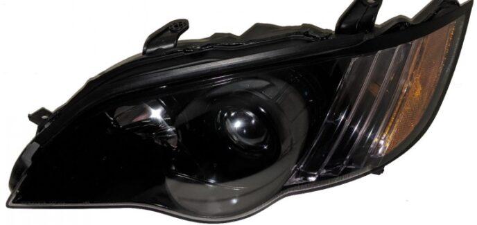 2009 Subaru Legacy Black Custom Headlights
