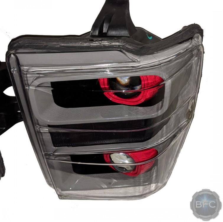 2008 Ford F250 SuperDuty Custom Nardo Black Red Painted HID Projector Headlights