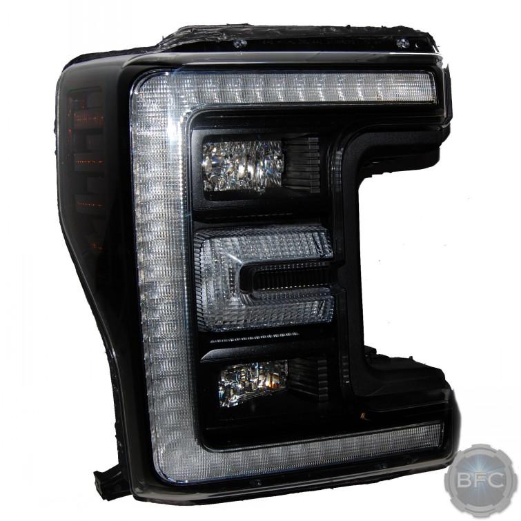 2019 Ford Super Duty Black Painted OEM LED Headlights