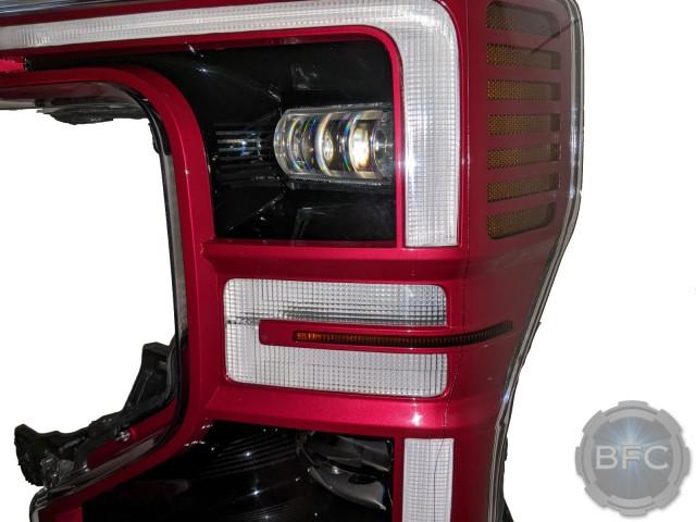 2021 Ford Super Duty Rapid Red Custom Painted OEM LED Headlights