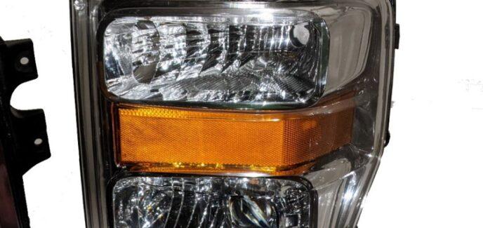 2008-2010 Ford Super Duty Chrome Projector Custom Retrofit Headlights