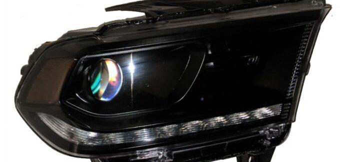 2014 Dodge Durango All Black MLED LED Retrofit Headlights