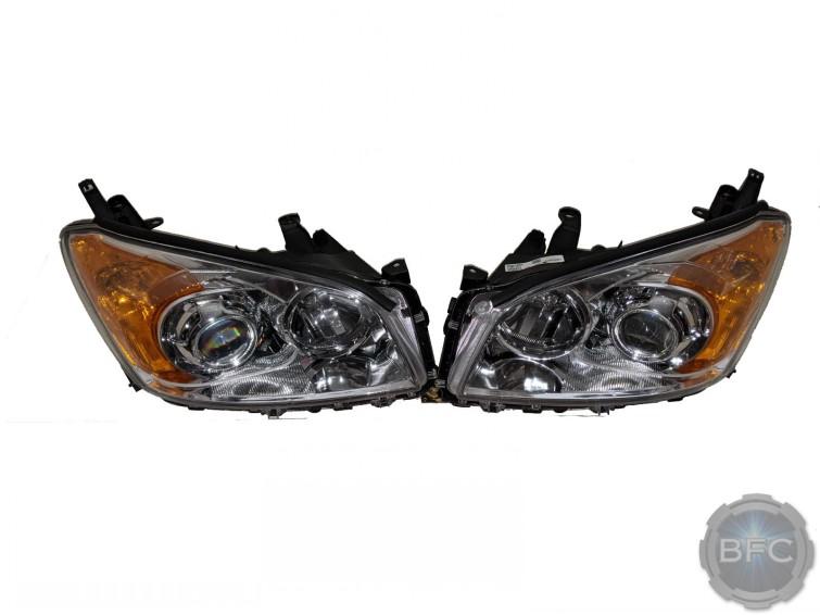 2012 Toyota Rav4 Chrome Projector Custom Headlights