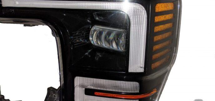 2020 Ford Super Duty OEM LED Custom Tuxedo Black Headlights