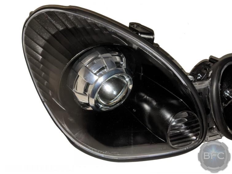 1998 Lexus GS300 Black Chrome HID Projector Headlights Retrofit