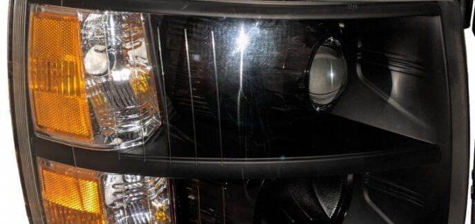 2013 Chevy Silverado Black Custom Projector Headlights Conversion